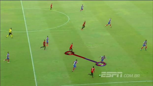 Rafa Oliveira mostra como Sport superou os problemas contra o Bahia usando lado direito e Diego Souza