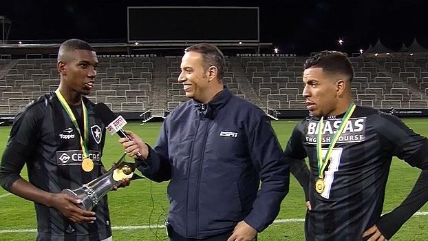 Campeões Sub-20 pelo Botafogo, artilheiros da noite comemoram: 'Hoje tudo é festa'