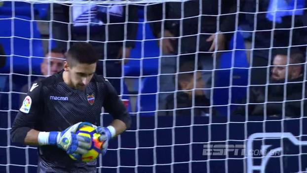 Goleiros vão bem, e duelo Málaga x Levante termina empatado