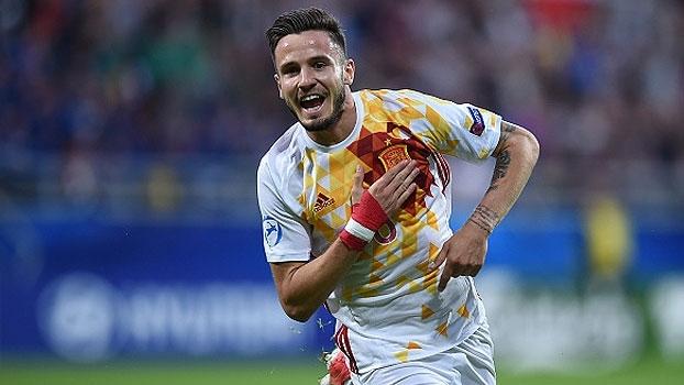 Portugal anota golaço, mas Espanha vence e assume liderança do grupo na Euro Sub-21