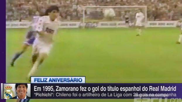 Completando 50 anos, Zamorano marcou o gol que deu o título espanhol ao Real Madrid em 1995