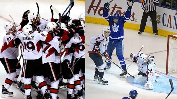 Com empates heroicos e vitórias na prorrogação, Senators e Leafs vencem na NHL