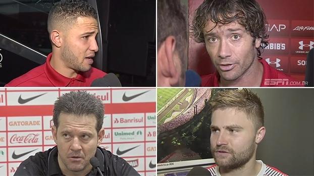 Sasha diz que todos do Inter foram heróis; Bruno admite falha no 2º gol