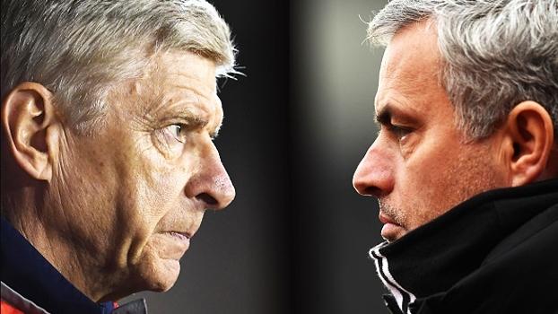 Tempos diferentes: após capítulos quentes, Wenger e Mourinho agora travam duelo cordial