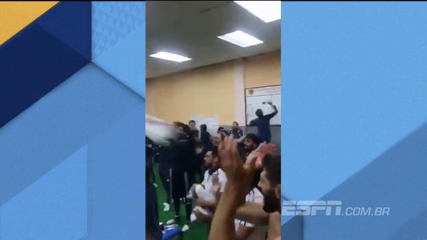 Veja festa da seleção argentina no vestiário após garantir vaga na Copa