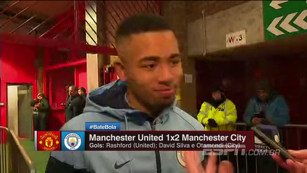 Gabriel Jesus analisa chances perdidas e diz que City deu 'grande passo' rumo ao título