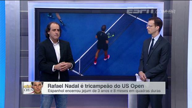 Meligeni destaca 'transformações' de Nadal e exalta título no US Open: 'Ele sobrou'