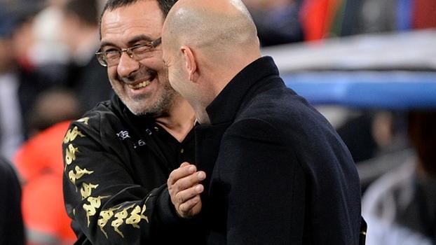 Sarri promete impor o máximo de dificuldade ao Real; Zidane destaca energia de torcedores do Napoli