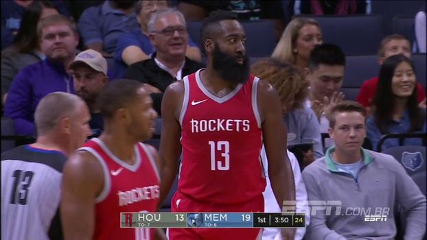Harden comanda, Rockets vencem Grizzlies e encerram invictos a pré-temporada