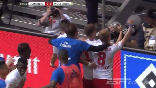 Veja os gols de Hamburgo 2 x 1 Wolfsburg