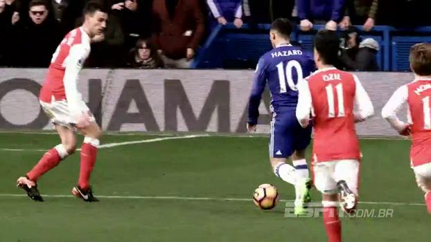 Costura na defesa, canhotaça e precisão: veja os cinco golaços de Hazard na Premier League