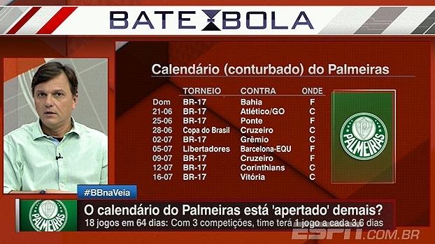 Mauro analisa calendário do Palmeiras, destaca elenco e pondera: 'Vai ter que priorizar algum campeonato'