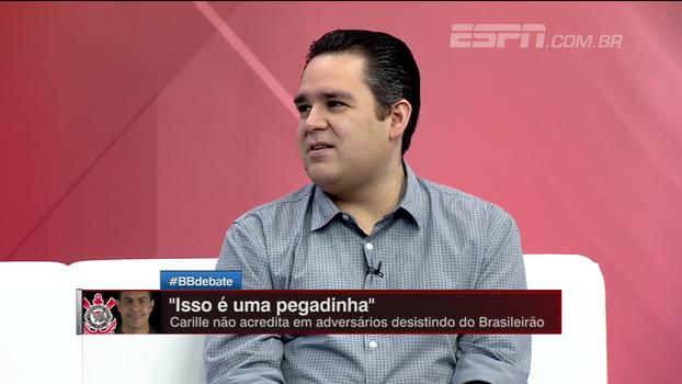 Para Bertozzi, Corinthians tem '100% de responsabilidade' de ser campeão