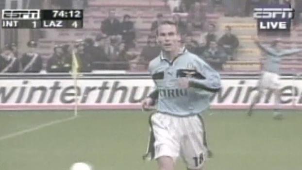 Com gols de Salas, Mancini e Nedved, Lazio fez 5 a 3 na Internazionale em 1998