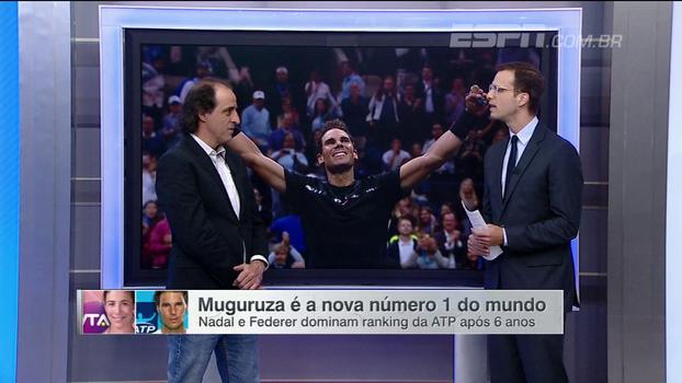 Muguruza e Nadal no topo! Fernando Meligeni traz atualizações e mudanças no ranking mundial de tênis