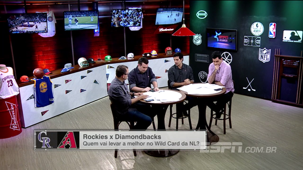 Paulo Antunes, Antony Curti e Rômulo Mendonça dão palpites para Diamondbacks x Rockies pelo Wildcard da Liga Nacional