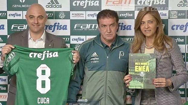 Cuca é apresentado no Palmeiras e clube divulga o novo modelo de uniforme