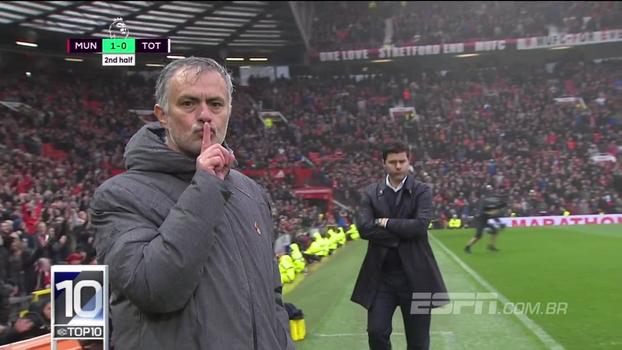 Top10 da Premier League tem silêncio de Mourinho, contra-ataque de Gray e chutaço de Sané