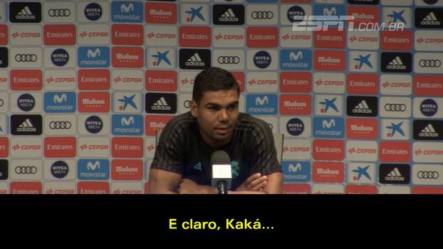 Casemiro fala sobre amigo Kaká e agradece: 'Me ajudou na minha chegada aqui'
