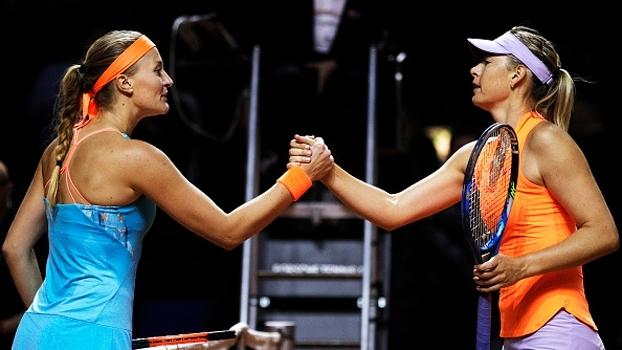 Veja lances de Kristina Mladenovic 2 x 1 Maria Sharapova
