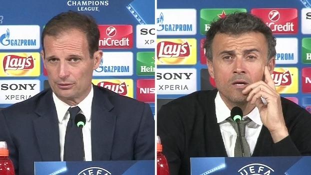 Massimiliano Allegri espera outra postura do Barcelona; Luis Enrique lamenta: 'Revivi um pesadelo'