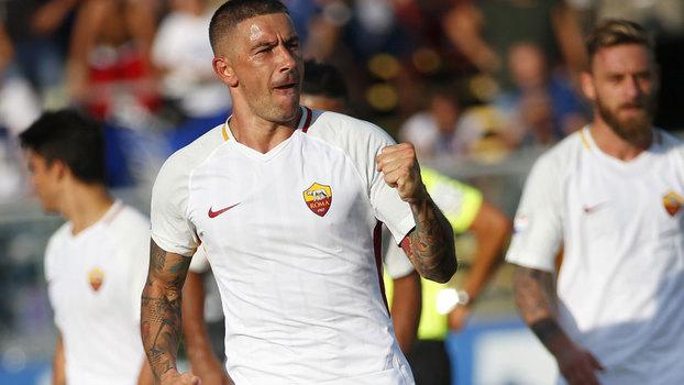 Italiano: Gol de Atalanta 0 x 1 Roma