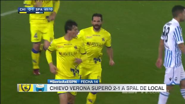 Atacante italiano brilha, Chievo vira sobre o SPAL e pula do 11º para o 8º lugar