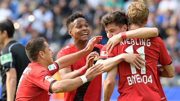 Bayer Leverkusen vence Hertha Berlin por 6 a 2 na última rodada da Bundesliga