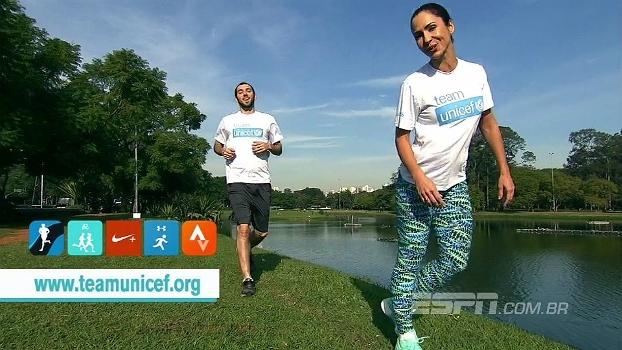 Juliana Veiga e Gustavo Hofman correm 5km pelo desafio do #teamunicef