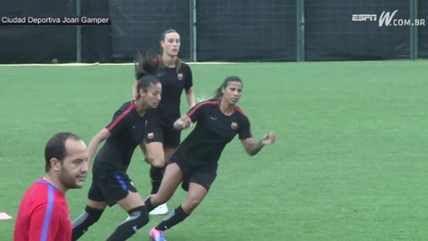 Lateral ressalta apoio dos espanhóis ao futebol feminino