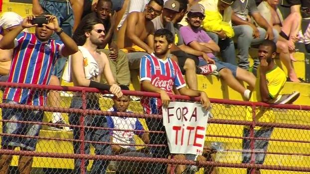 Torcedor do Bahia pede 'Fora Tite!' em jogo da Copa São Paulo; Mendel explica