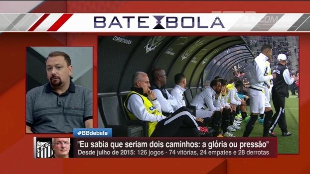 Alê Oliveira, sobre Santos: 'Eu não acho que o Dorival é o culpado pelos resultados ruins'