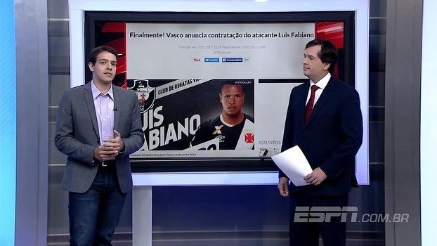 Rafael Oliveira analisa contratação de Luis Fabiano: 'Vai acrescentar ao Vasco'