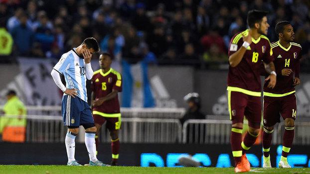 Eliminatórias Sul-Americanas: Gols de Argentina 1 x 1 Venezuela