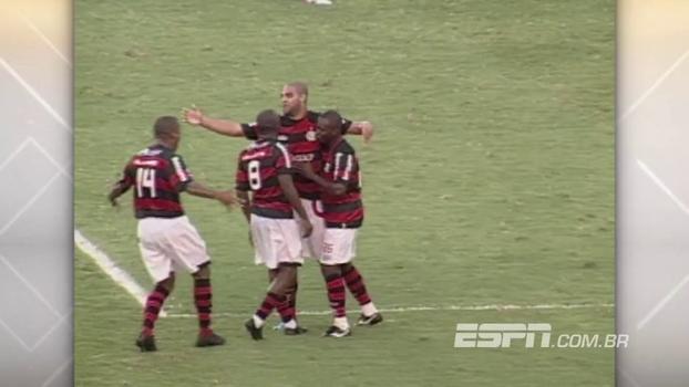 2009: Em ano de título, Bruno pegou dois pênaltis de Ganso e Fla venceu o Santos com gol de Adriano