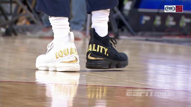 Preto e branco: veja o tênis especial de LeBron James pela igualdade racial