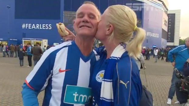 Champions League é novidade em Leicester e clima perto do estádio é de amizade com os rivais