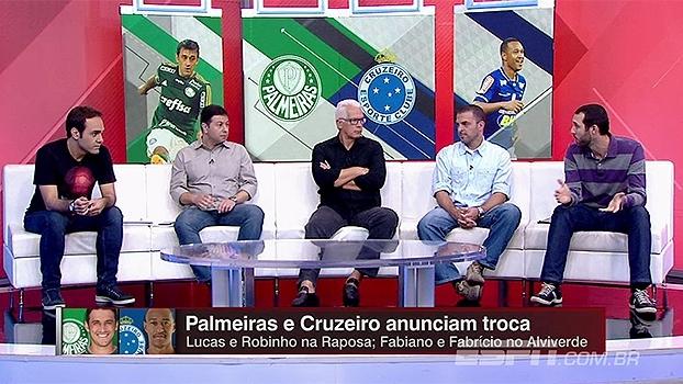 Para Marra, Cruzeiro se deu melhor na troca Fabiano/Fabrício por Lucas/Robinho; Leão: 'Se resolveu trocar, algo tem'