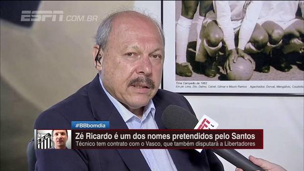 Presidente do Santos fala sobre negociações para novo treinador, elogia Zé Ricardo, mas pede cautela: 'Vamos contratar para depois anunciar'
