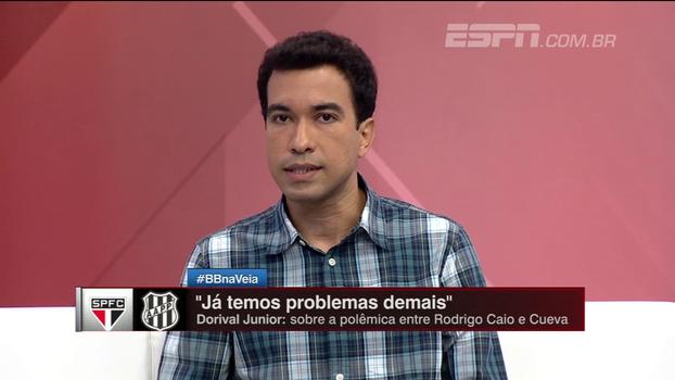 'Rodrigo Caio ainda não tem estofo para cobrar nada do Cueva', afirma Breiller