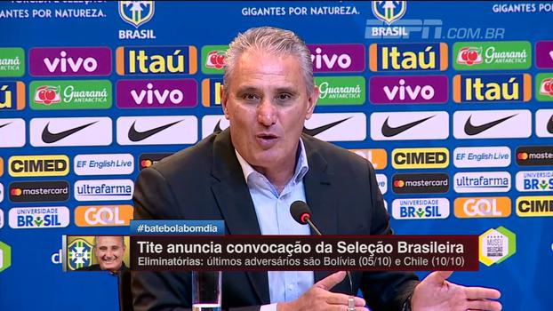 Tite diz que Willian e Coutinho podem jogar juntos na seleção e explica convocação de Tardelli