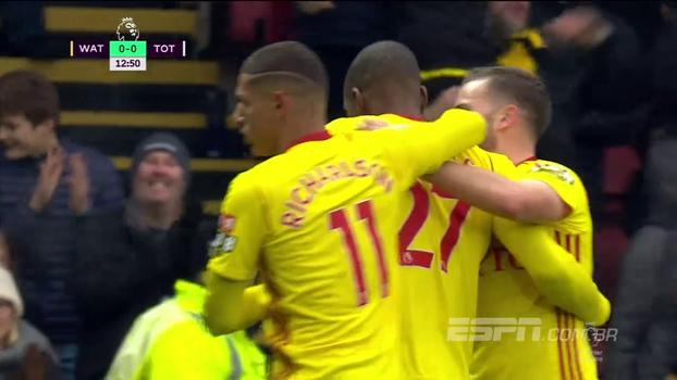 Richarlison passa em branco, e Watford fica no empate com o Tottenham; veja os gols