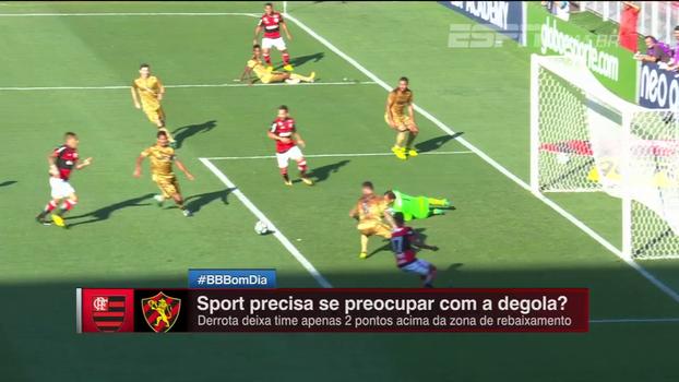 BB Nordeste analisa atuação ruim do Sport contra o Flamengo: 'Sem criatividade'