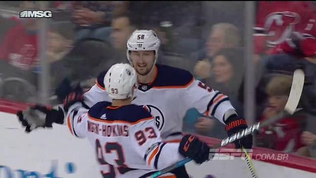 Com gol restando 16 segundos para o final da prorrogação, Oilers viram sobre Devils e derrotam favoritos