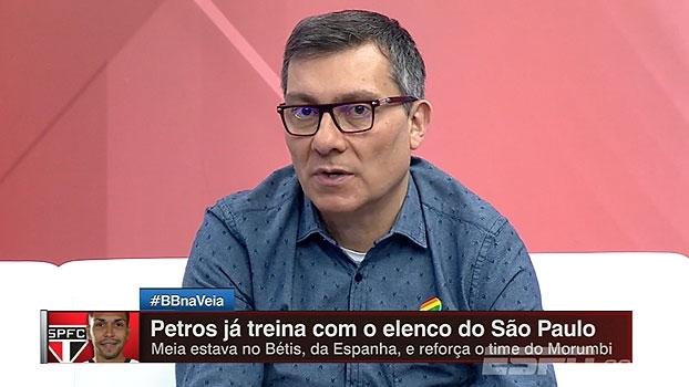Calçade lembra de atuações de Petros no Corinthians e projeta função do meia no São Paulo