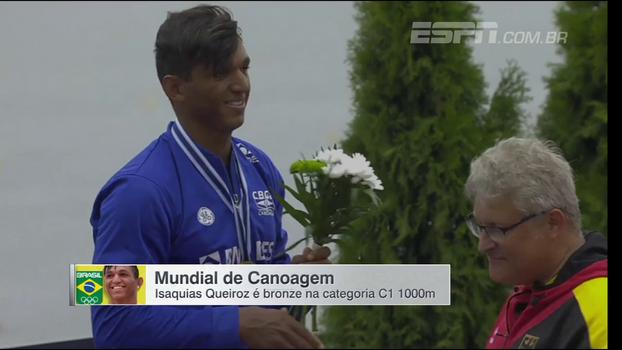 Isaquias Queiroz conquista medalha de bronze no Mundial de Canoagem; veja