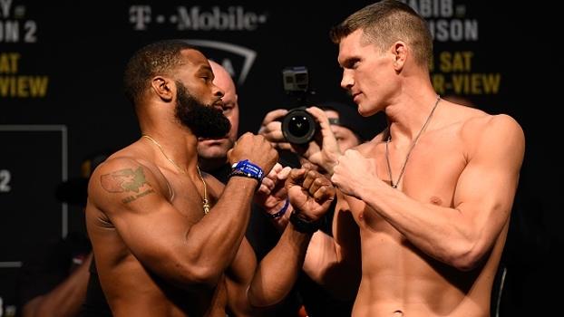 UFC 209: protagonistas do evento, Woodley e Thompson fazem encarada tranquila