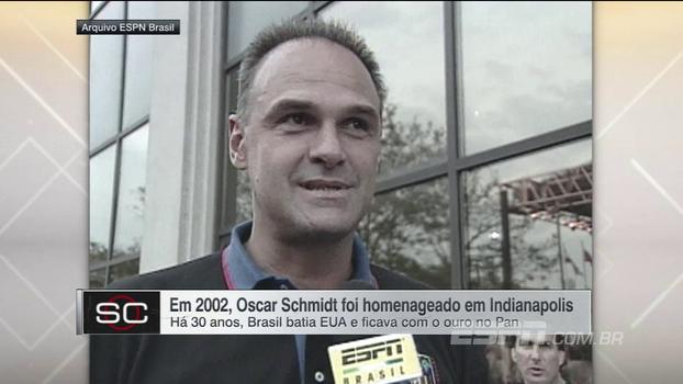 Há 15 anos, Oscar Schmidt era homenageado nos Estados Unidos ao lado de Larry Bird e Oscar Robertson