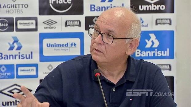 Romildo Bolzan elogia Héber Roberto Lopes e pede desculpas a jornalista após críticas a árbitro: 'Não me fiz entender'