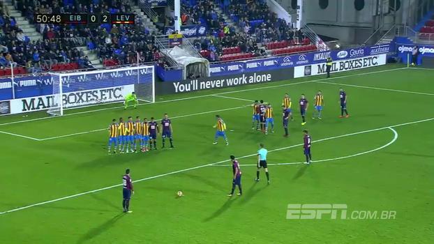 Levante abre 2 a 0 fora de casa, mas no segundo tempo, com golaço de falta e gol de brasileiro, Eibar empata